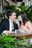 Couple Eating Outdoors Royalty Free Stock Images