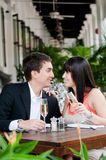 Couple Eating Outdoors Royalty Free Stock Photos