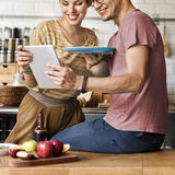 Couple Eating Spaghetti Sweet Moments Concept Royalty Free Stock Photo