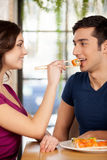 Couple eating sushi. Stock Images