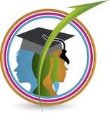 Couple education logo Stock Image