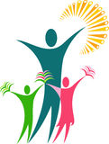 Couple education logo Stock Photography