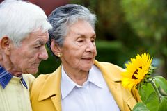 Couple of elder people Royalty Free Stock Images