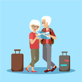 Couple of elderly people travel Stock Photo