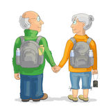 Couple of elderly tourists Royalty Free Stock Photo