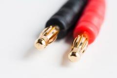 Couple of electric plug jacks Stock Photo