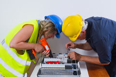 Couple of electrician Royalty Free Stock Photos