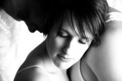 Couple Embrace royalty free stock photography