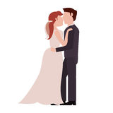 Couple embrace just married Stock Photo