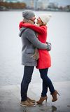 Couple in embrace Stock Photography