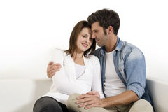 Couple embracing Stock Images