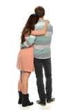 Couple Embracing - Back View Royalty Free Stock Photography
