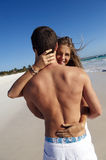 Couple embracing on beach Royalty Free Stock Photo