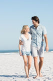 Couple embracing at beach Stock Photo