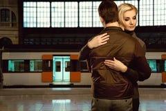 Couple embracing royalty free stock image