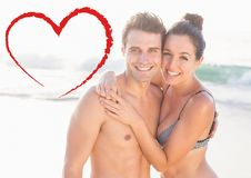 Couple embracing each other Stock Images