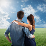 Couple embracing Royalty Free Stock Photography