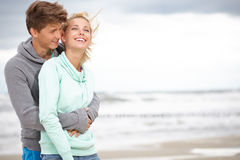 Couple embracing and having fun Stock Images