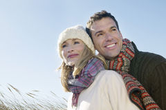 Couple Embracing Outdoors Royalty Free Stock Images