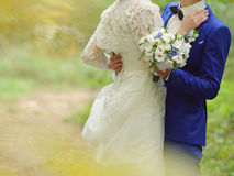 Couple Embracing in Park Royalty Free Stock Images