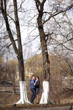 Couple embracing in the park Stock Photo