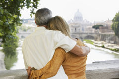 Couple Embracing In Rome Royalty Free Stock Photography