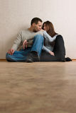 Couple in empty room. Royalty Free Stock Image