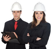 Couple of engineers Stock Images