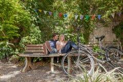 Couple enjoy the nature Royalty Free Stock Photo