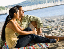 Couple enjoying beach Royalty Free Stock Photo