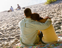 Couple enjoying beach Stock Image