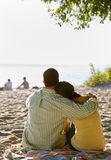 Couple enjoying beach Stock Images