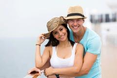 Couple enjoying cruise Stock Photo