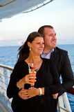 Couple Enjoying a Cruise Vacation Stock Photography