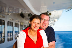 Couple Enjoying a Cruise Vacation Royalty Free Stock Images