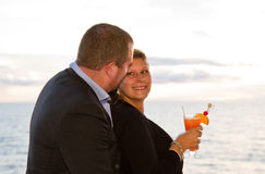 Couple Enjoying a Cruise Vacation Stock Photo