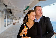 Couple Enjoying a Cruise Vacation Royalty Free Stock Photos