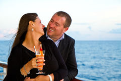 Couple Enjoying a Cruise Vacation Royalty Free Stock Image