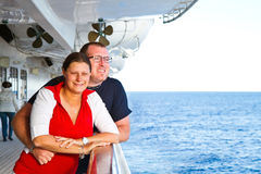 Couple Enjoying a Cruise Vacation Stock Photo