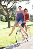 Couple Enjoying Cycle Ride Royalty Free Stock Photography