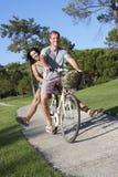 Couple Enjoying Cycle Ride Stock Photography