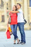 Couple enjoying day out in city Stock Photos