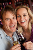 Couple Enjoying Drink Together In Bar Royalty Free Stock Images