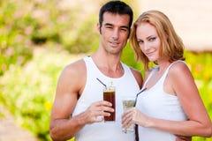 Couple Enjoying Drinks Stock Image
