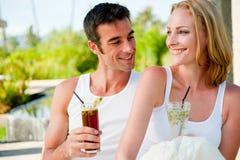 Couple Enjoying Drinks Stock Photo