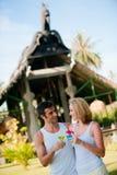 Couple Enjoying Drinks Royalty Free Stock Photography