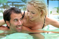 Couple enjoying honeymoon Stock Photo