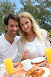 Couple enjoying honeymoon Stock Images