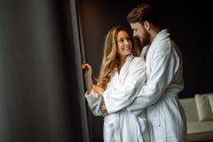 Couple enjoying honeymoon Royalty Free Stock Image