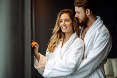 Couple enjoying honeymoon Royalty Free Stock Photography
